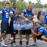 Duke Tight Ends, Helfet left - BDN Photo, Rick Crank