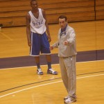 Coach K instructs during the recent Coachs Clinic - BDN Photo