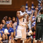 Kyrie Irving scores a career high 31 points to lead Duke past Michigan State 84-79, Photo Lance King for BDN