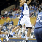 Jasmine Thomas helped Duke slip past Xavier - Rick Crank Photo for BDN