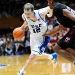 Singler drives vs. Temple - Rick Crank photo for BDN