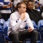Murphy watches a game in Cameron, a place where he will soon play.  BDN Photo, LKI