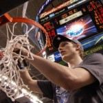 Only time will tell if Kyle will be cutting more nets.  BDN Photo - Mark Watson