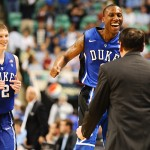 Happy, happy, joy, joy moment for the Duke Blue Devils - Lance King photo