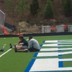 NFL stars Eli Manning and Hakeem Nicks have been working out at Duke this week.
