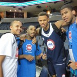 Kyle Anderson, Rasheed Sulaimon, Justin Anderson and L.J. Rose strike a pose - BDN Photo