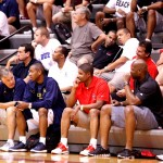 The Duke coaches were checking out prospects during the first day of the Adidas invitational and BDN Premium was right there as well.