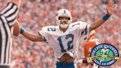 Duke WR Clarkston Hines will be enshrined in the College Football Hall of Fame Saturday