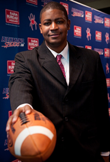 Latrell Scott became the youngest HC in Division I football when he replaced Mike London after the 2009 season. Photo Credit-RichmondSpiders.com