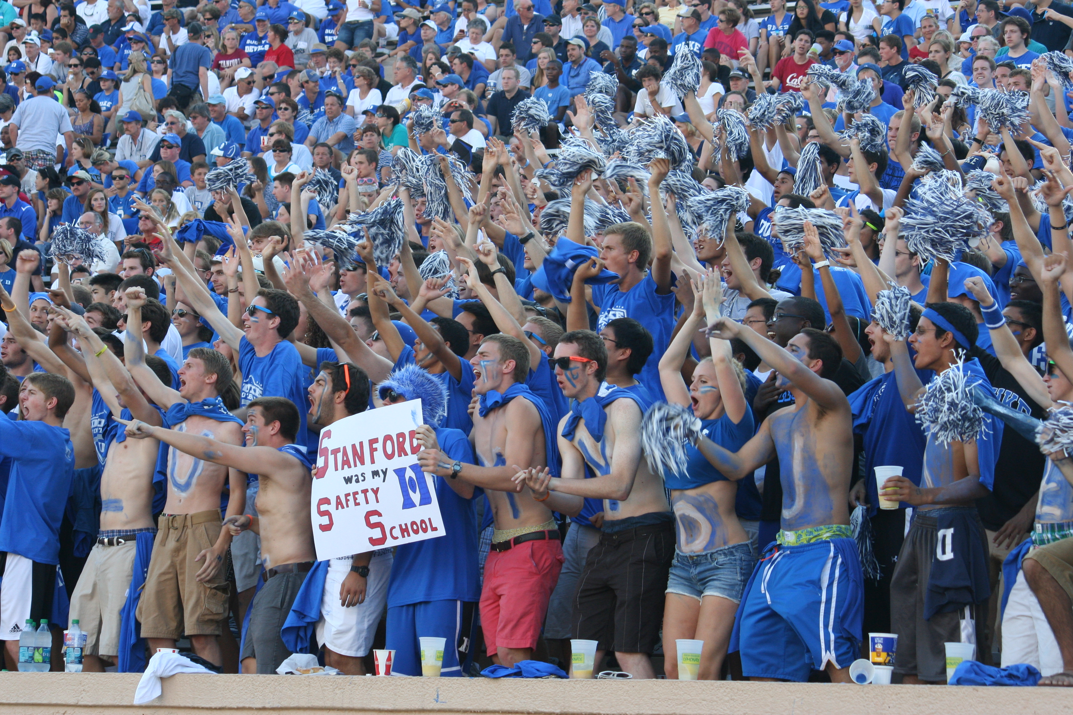 Duke football fans are anxious for something to cheer about - BDN Photo