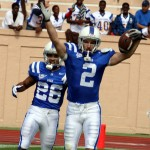 Duke WR Conner Vernon scores his 1st of 2 TDs against Tulane last year -BDN Photo