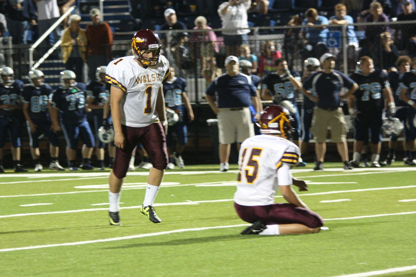 Ross Martin, the top HS placekicker in the country, hits the game-winning FG in his season opener.