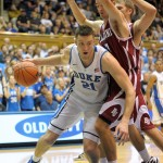 Duke senior captain Miles Plumlee on the drive - Copyright BDN Photo/Rick Crank