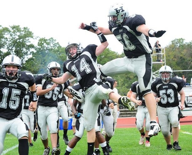 Hackley LB/DE A.J. Wolf committed to Duke in June