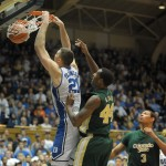 Miles Plumlee throws dowwn a dunk in win over Colorado State - Rick Crank Photo
