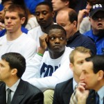 Julius Randle visited Duke yesterday - BDN Photo