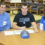 Casey Blaser signs his NLI
