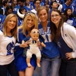 Duke cheerleaders returned for a reunion yesterday.