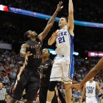 It was a tough way for Miles Plumlee to end his career - LK Photo