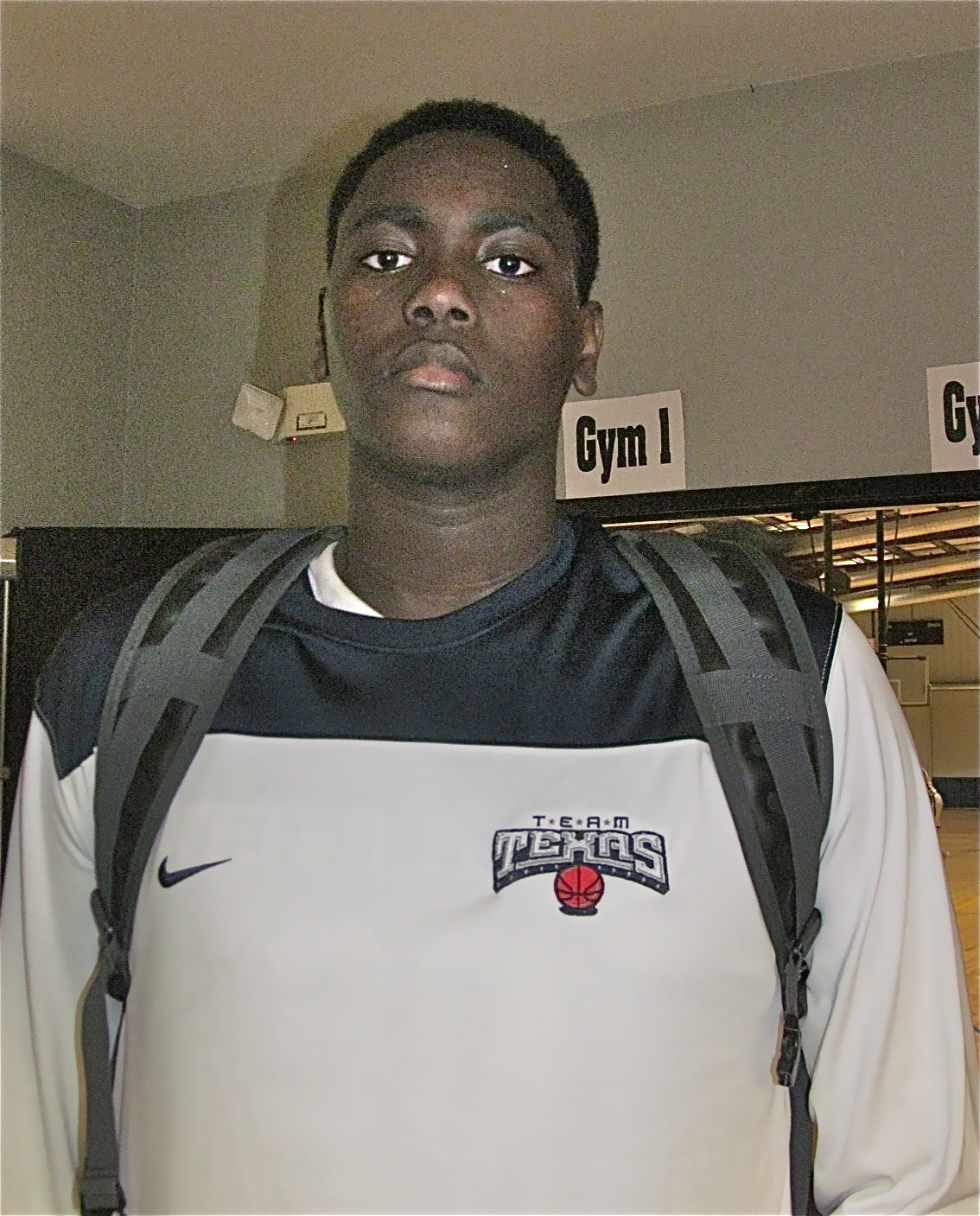 "6'9"" Duke Recruit Elijah Thomas of Texas,  Photo by Andrew Slater"