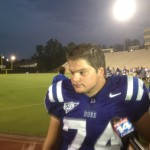 Duke Offensive Lineman Dave Harding talks OL going into the season