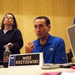 Coach K addresses the ACC Media in Charlotte