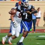 Duke QB Anthony Boone threw for 4 TDs against UVA - BDN Photo