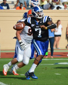 Duke QB Anthony Boone threw for 4 TDs against UVA in 2012 - BDN Photo