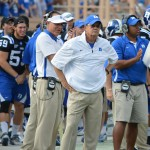Duke Head Coach David Cutcliffe reviews first scrimmage