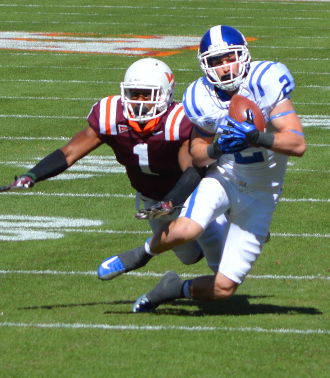 Senior WR Conner Vernon will look to get his first win against rival UNC on Saturday - BDN Photo