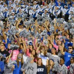 Wallace Wade had a terrific sold out atmosphere on Saturday as Duke defeated UNC to reclaim the Victory Bell - BDN Photo