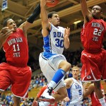 Curry got minutes for the Blue Devils in their win over WSSU.  Photo - Lance King for BDN