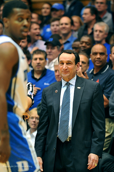 Coach K was happy with his teams win and their play to date in the post game.