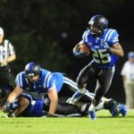 Duke freshman RB Jela Duncan leads the Blue Devils in carries, rushing yards, and yards per carry. - BDN Photo
