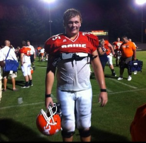 Davie County OL Trip McNeill visited Duke on Saturday.