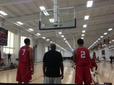 Duke Rising Freshmen, Jabari Parker and Matt Jones, at the Jordan Brand Classic Practice, Photo by Andrew Slater
