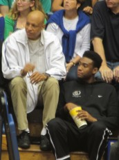 Father and Son: Sonny Parker and Jabari Parker Catching a Game at Duke, Photo by Jeanne Slater