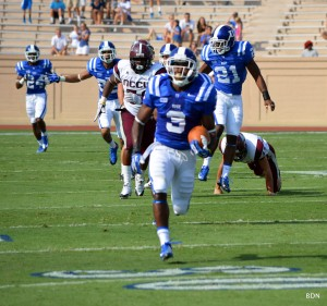 WR Jamison Crowder ignited the Blue Devils with a 76-yard punt return TD. BDN Photo