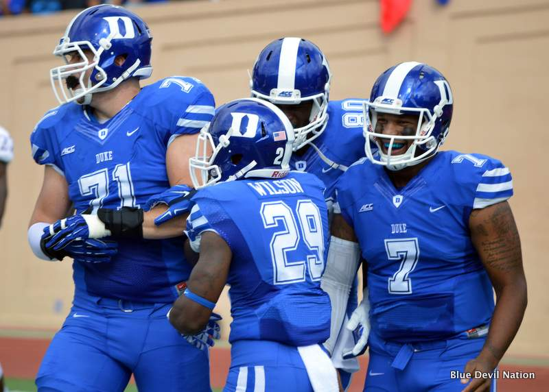 Duke RB Shaun Wilson set the school record with 245 rushing yards Saturday.