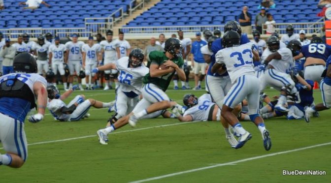 Jones has to touchdown passes in scrimmage.