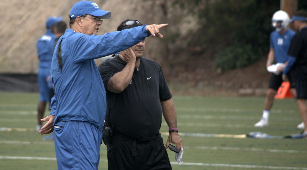 Coach Cutcliffe takes in Duke's first 2016 practice