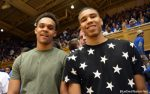 Gary Trent visits Cameron Indoor Stadium and Duke last season. Picture here with Jayson Tatum.
