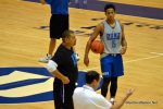 Duke freshman Frank Jackson take instruction from Duke Assistant Coach Jeff Capel. - BDN Photo