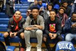 GARY TRENT JR, WENDELL CARTER AND TREVON DUVAL WATCH DUKE VS UNC IN CAMERON.