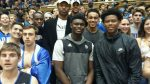 Cameron Redish right, is picture with fellow Duke prospects Zion Williamson, Tre Jones and Blue Devils to be Wendell Carter and Gary Trent. - BDN Photo